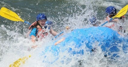 campers rafting on the south fork of the american river