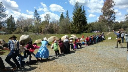 49er Fun 4th grade california living history field trip tug-o-war