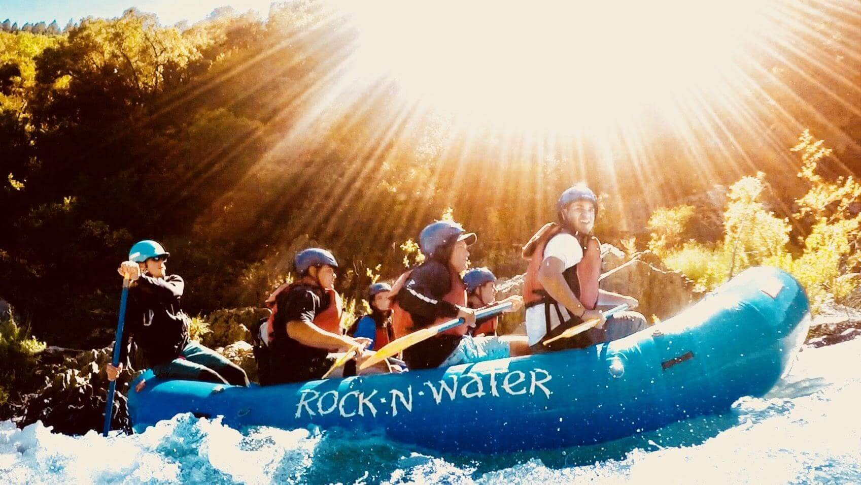 Rock-N-Water Christian Camps sunburst rafting