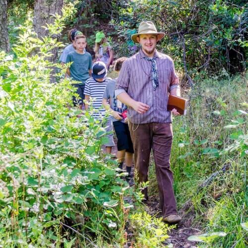 nature hike at gold rush history field trip camp