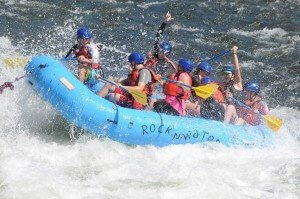 church youth group white water rafting in California